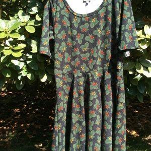 LuLaRoe dress NEW Plus Sz  floral green